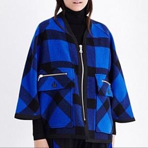 OPENING CEREMONY Espirit Checked Wool Blend Poncho